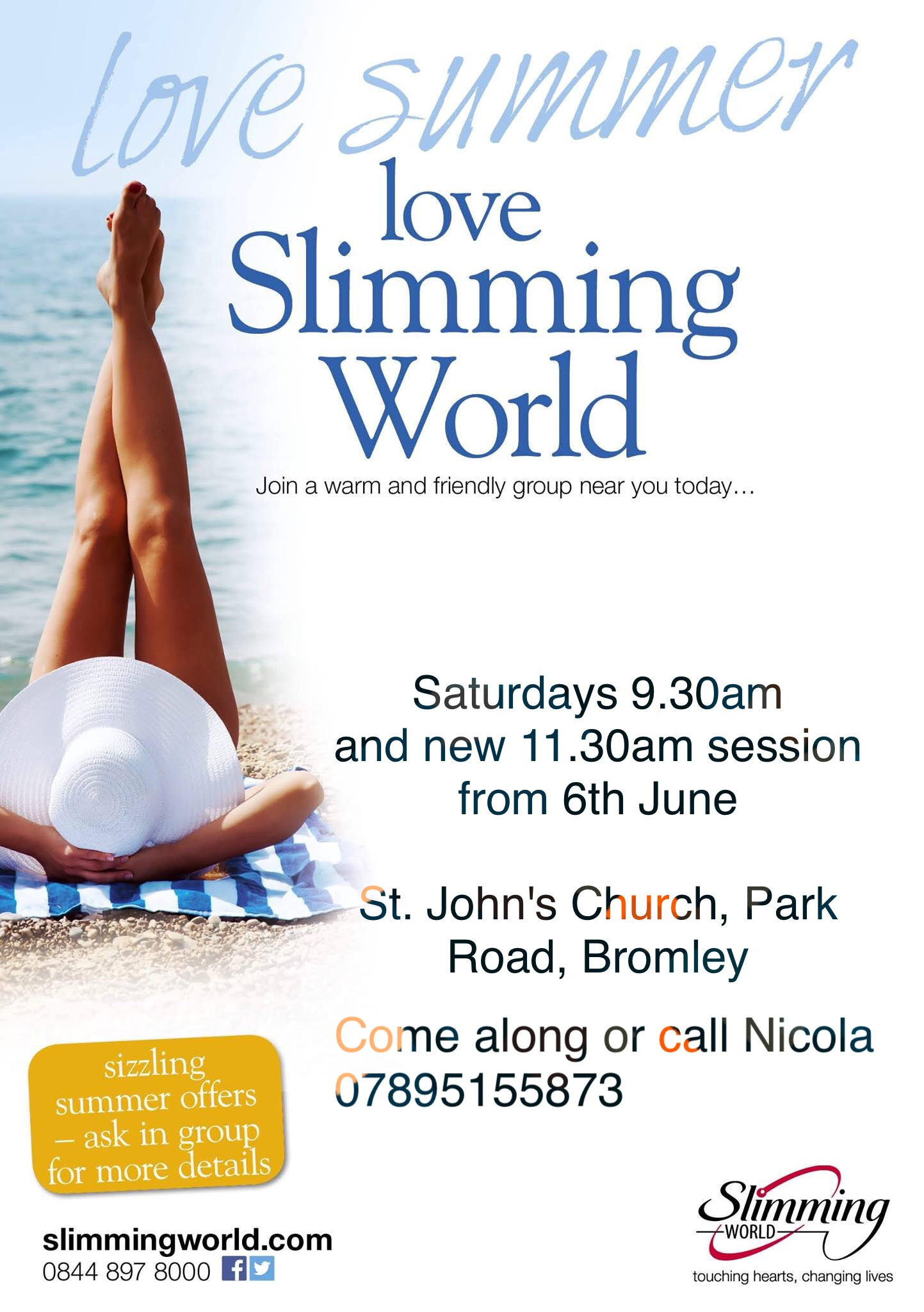 Slimming world st johns church word on the web bromley Slimming world website please